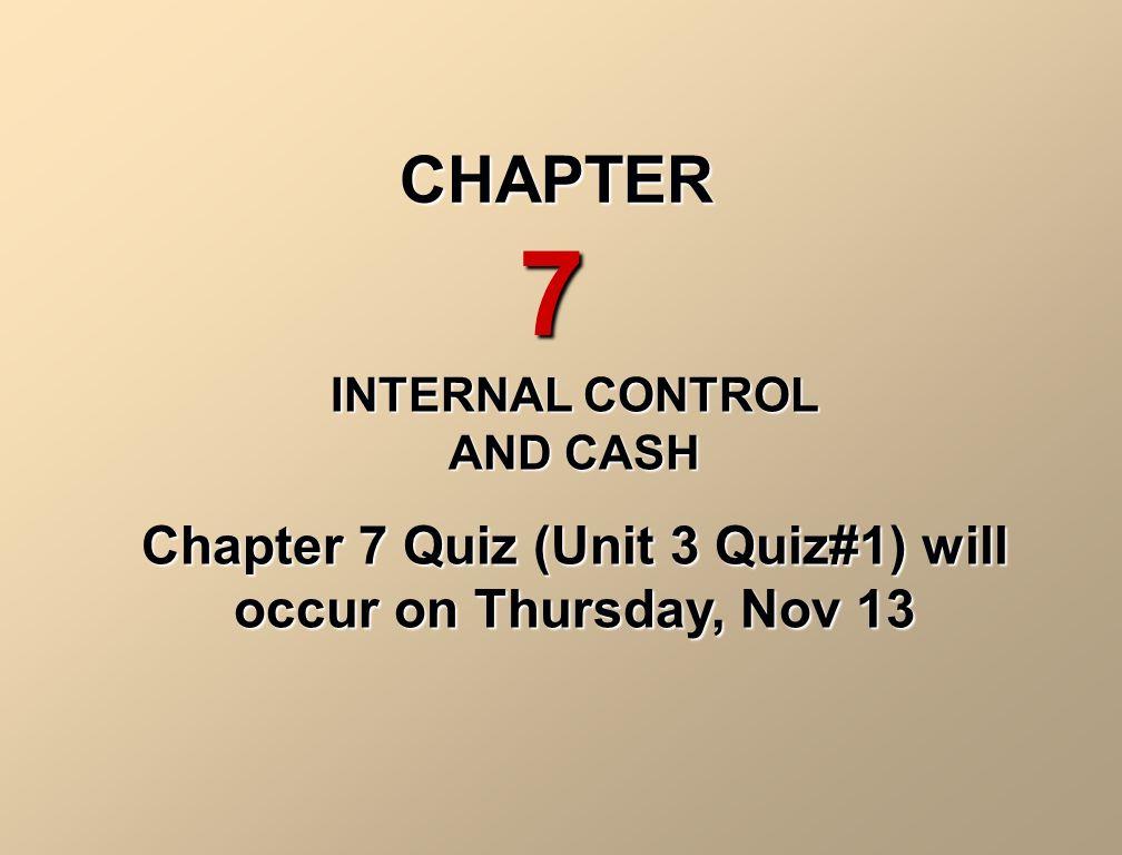 internal controls proposal