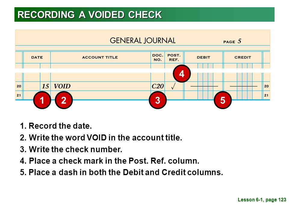 how to write void on a check
