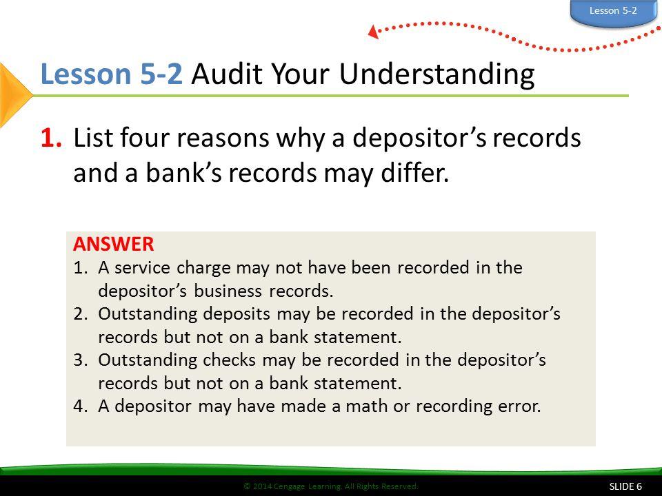 Lesson 5-2 Audit Your Understanding