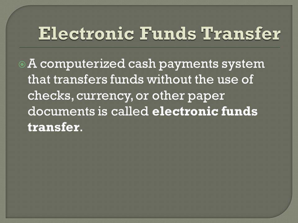 electronic funds transfer essay Discuss the complex relationship between terrorist organizations and the raising of, transfer of, and use of funds use examples unit 5 midterm essay.