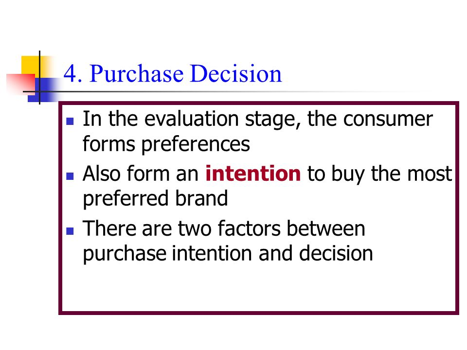 Purchase Decision In The Evaluation Stage, The Consumer Forms Preferences.  Also Form
