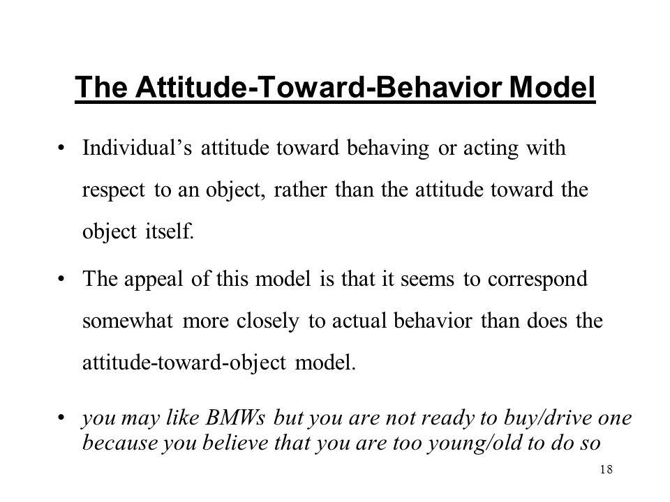 i the conceptual model tricomponent attitude