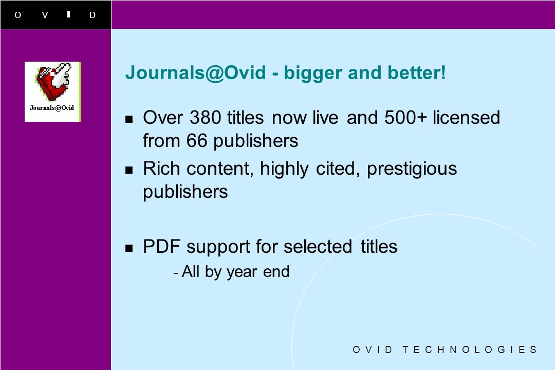 Journals@Ovid - bigger and better!