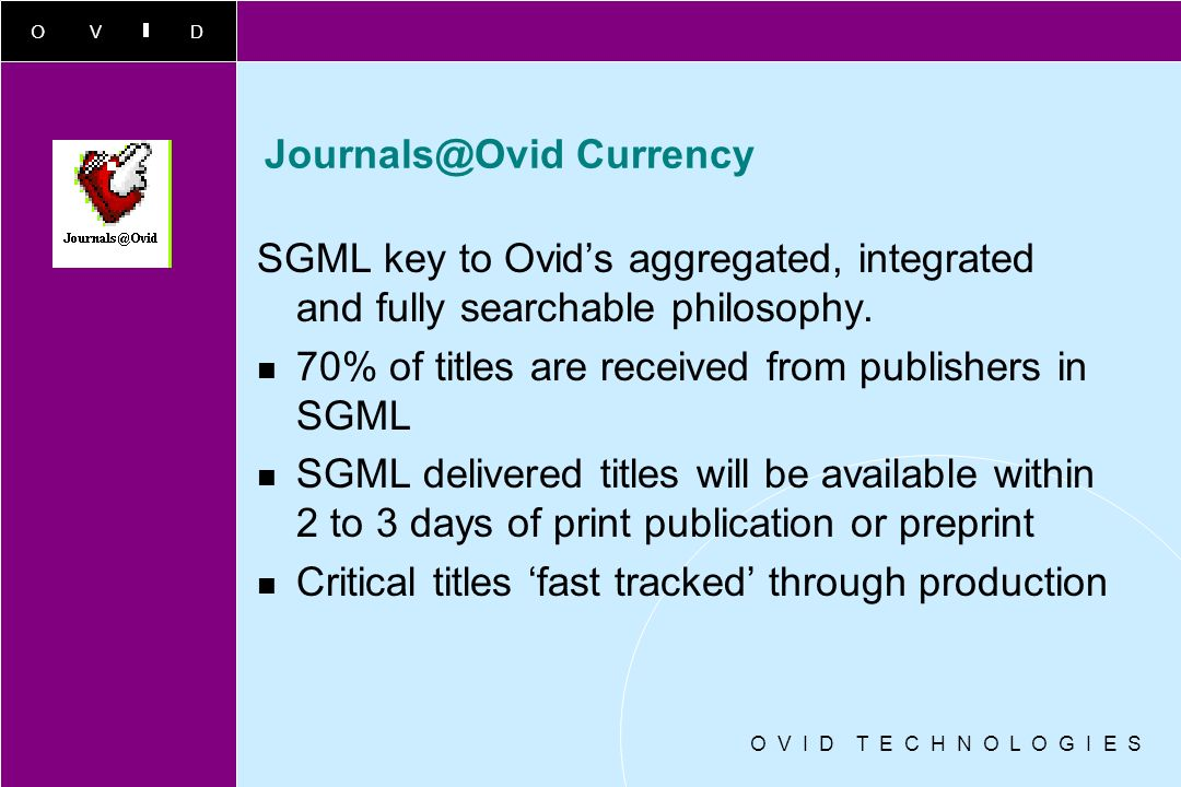 Journals@Ovid Currency