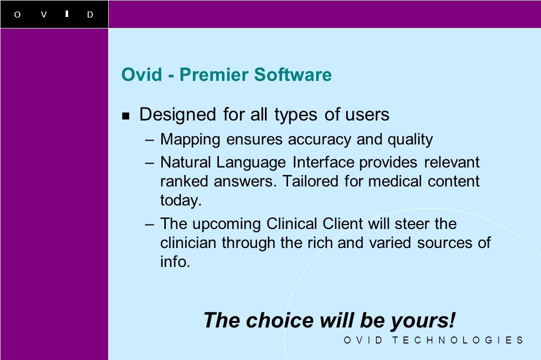 Ovid - Premier Software