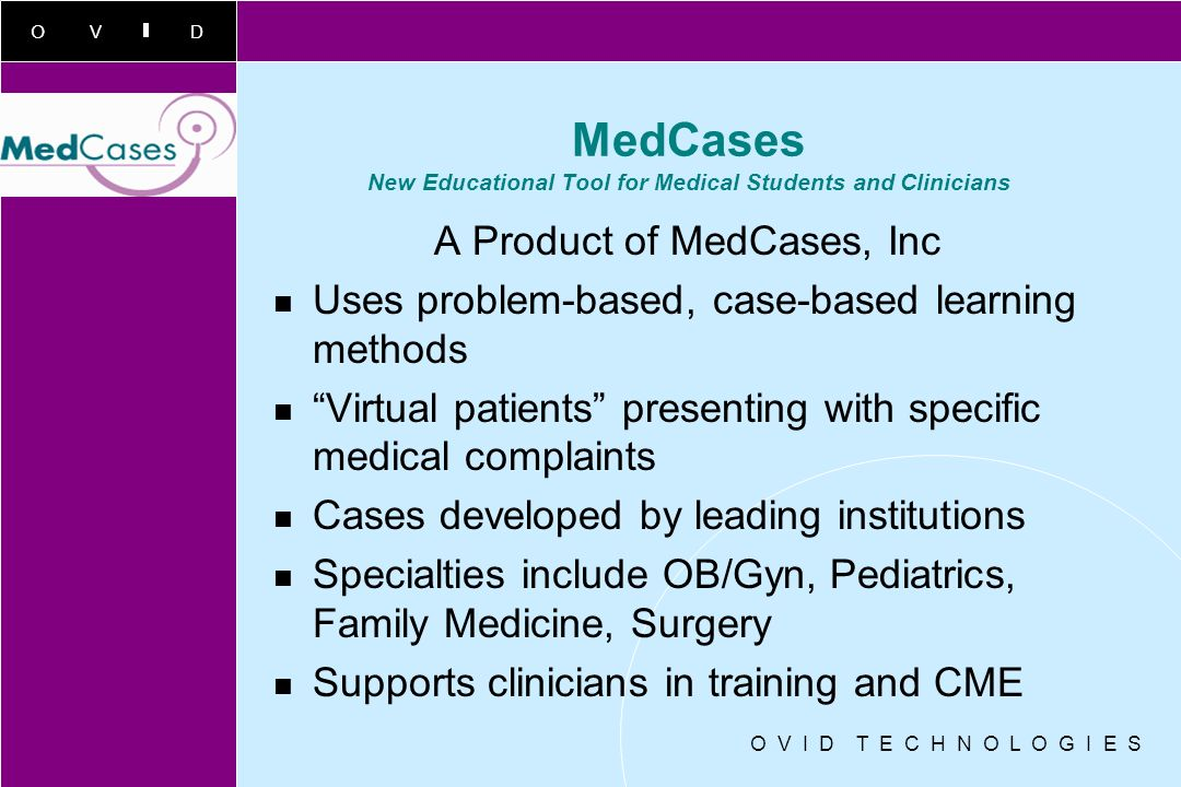 MedCases New Educational Tool for Medical Students and Clinicians