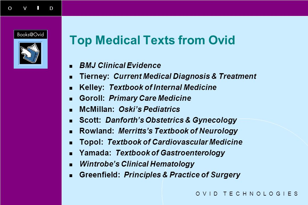 Top Medical Texts from Ovid