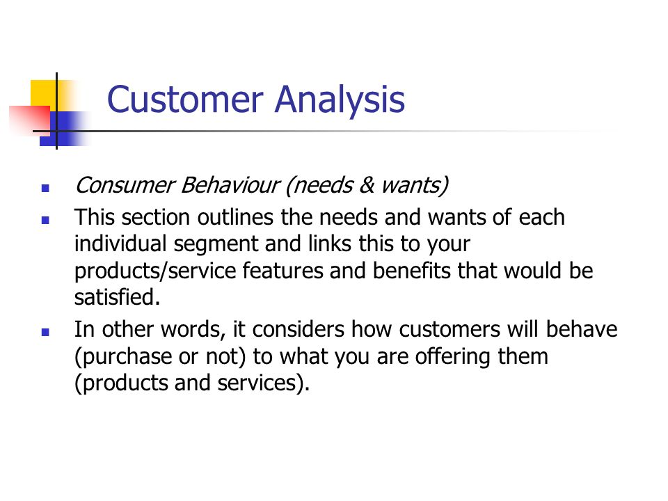 customer behavior analysis example Consumer behavior involves services and ideas as well as tangible products the impact of consumer behavior on society is also of relevance for example, aggressive marketing of high fat foods, or aggressive marketing of easy credit, may have serious repercussions for the national health and economy.