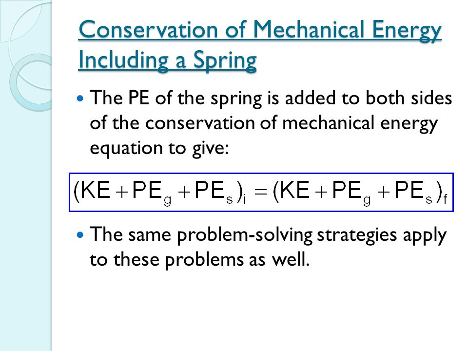 Conservation Of Mechan... Formula Of Mechanical Energy