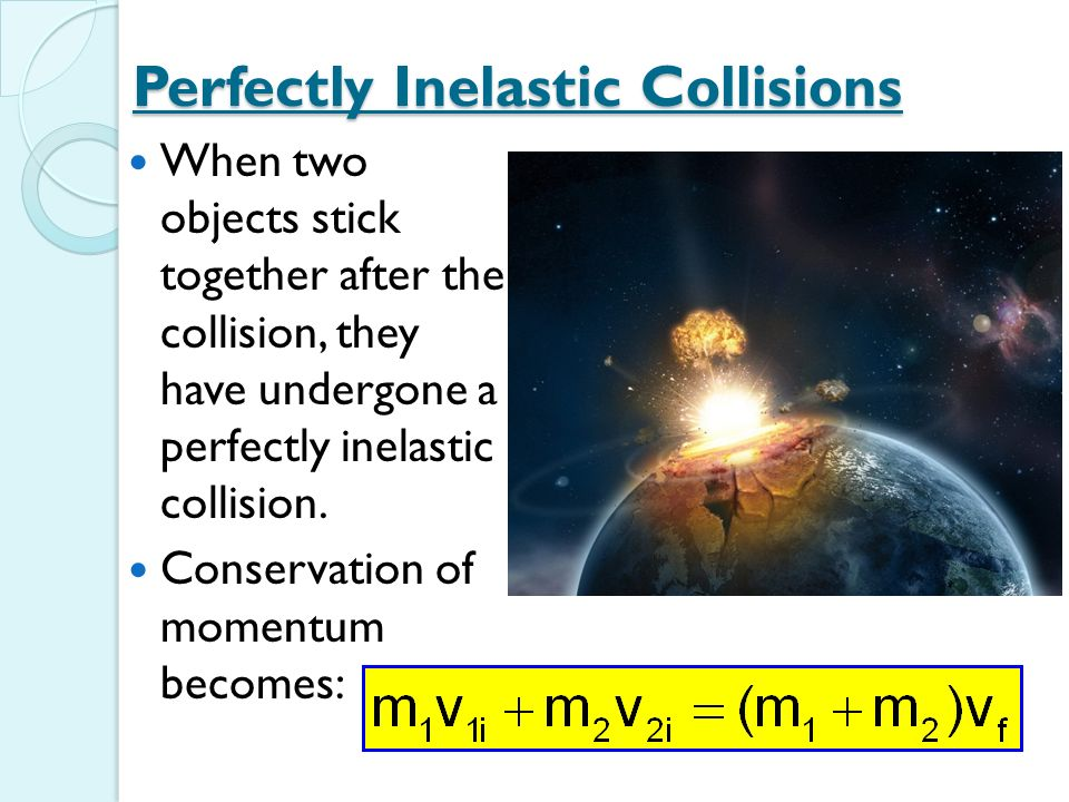 how to find final velocity in a perfectly inelastic collision