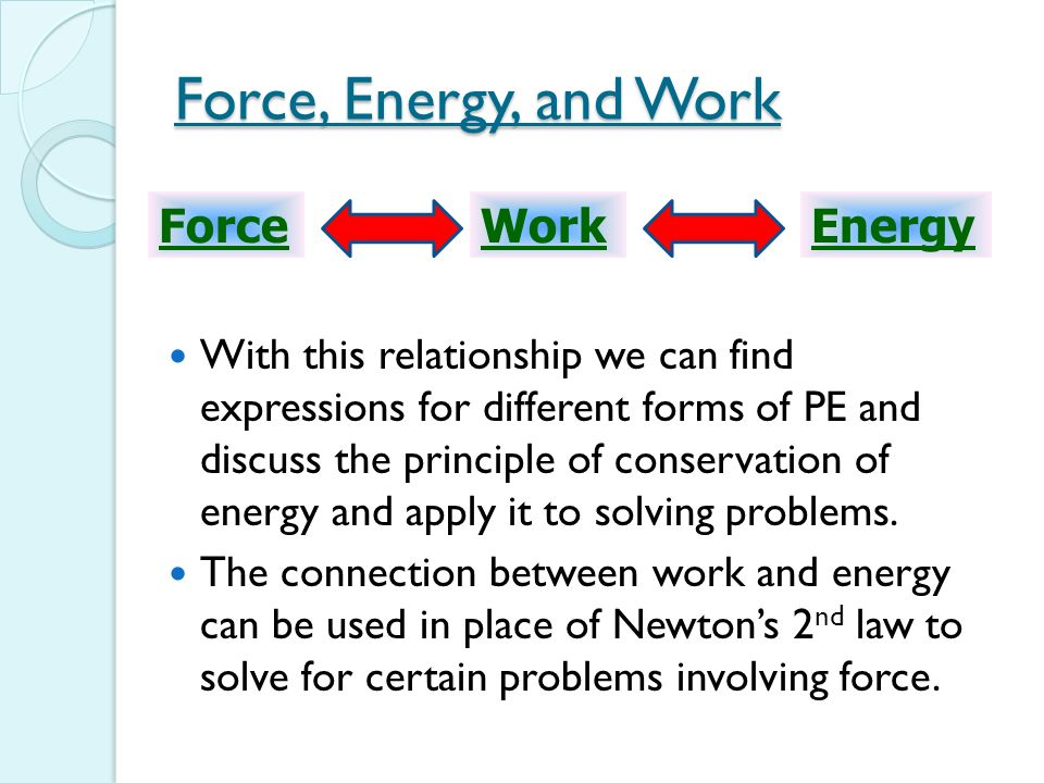work and mechanical energy relationship healing