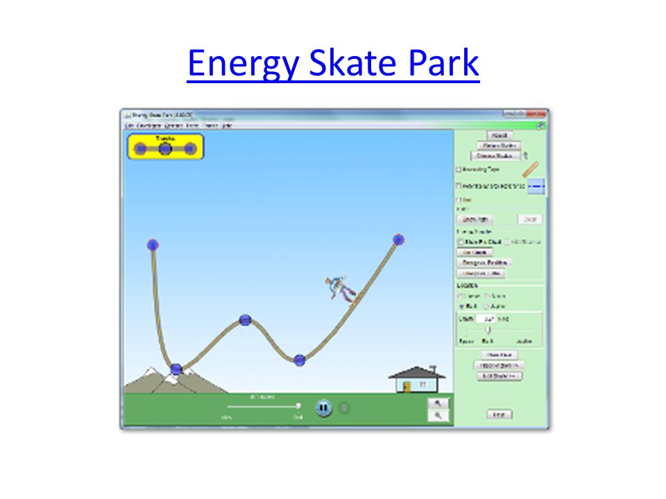 Unit 3 Energy S8P2 Students will be familiar with the forms – Energy Skate Park Worksheet