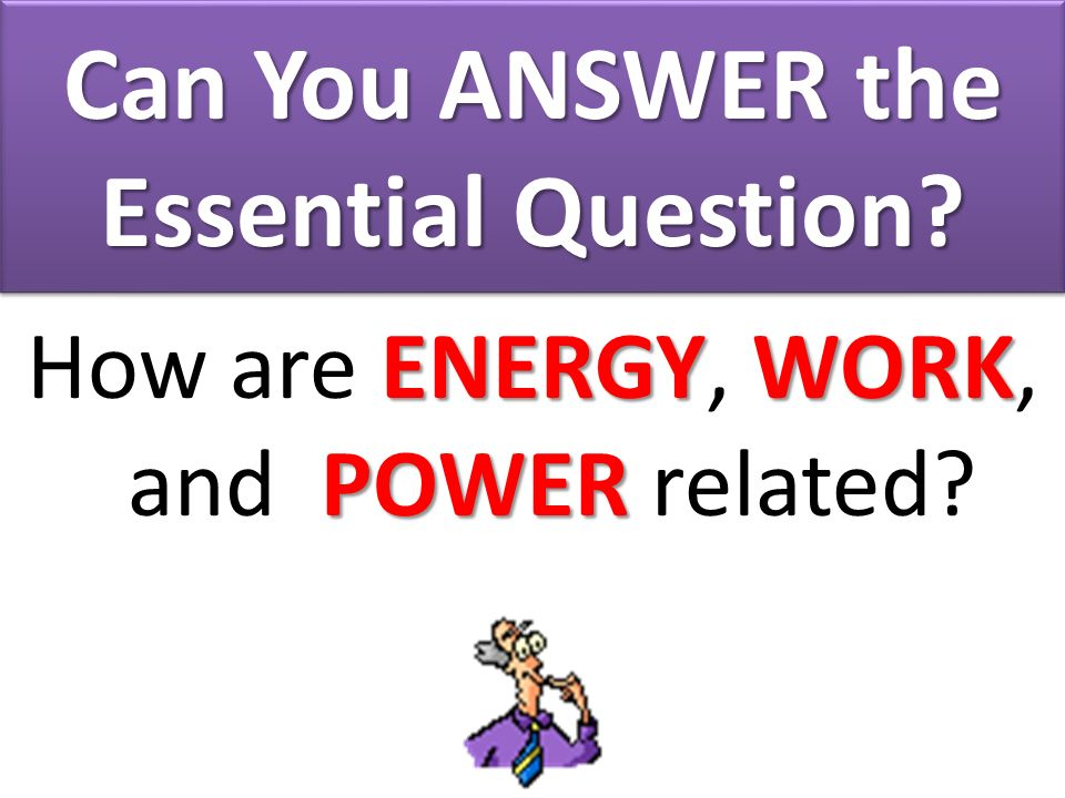 Can You ANSWER the Essential Question