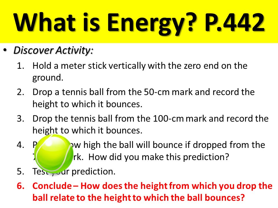 What is Energy P.442 Discover Activity: