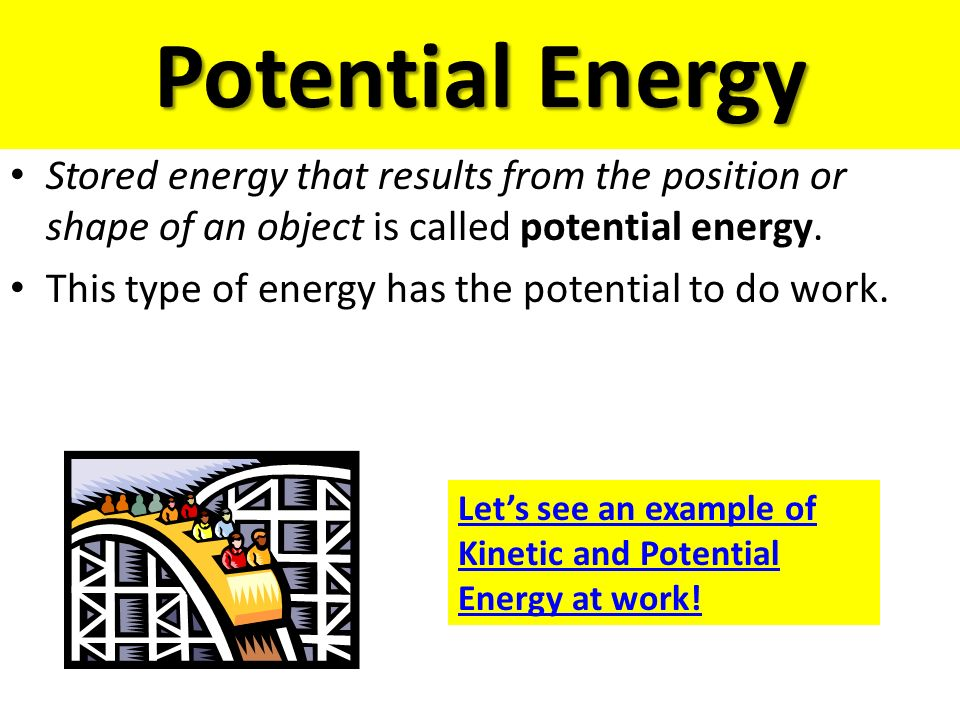 Unit 3 – Energy! S8P2. Students will be familiar with the forms ...