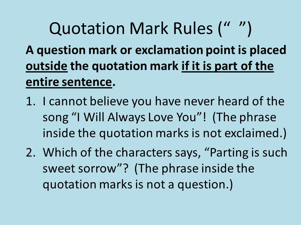 how to use quotations in dialogue