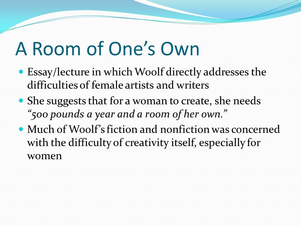 to the lighthouse virginia woolf ppt video online  a room of one s own essay lecture in which woolf directly addresses the difficulties of