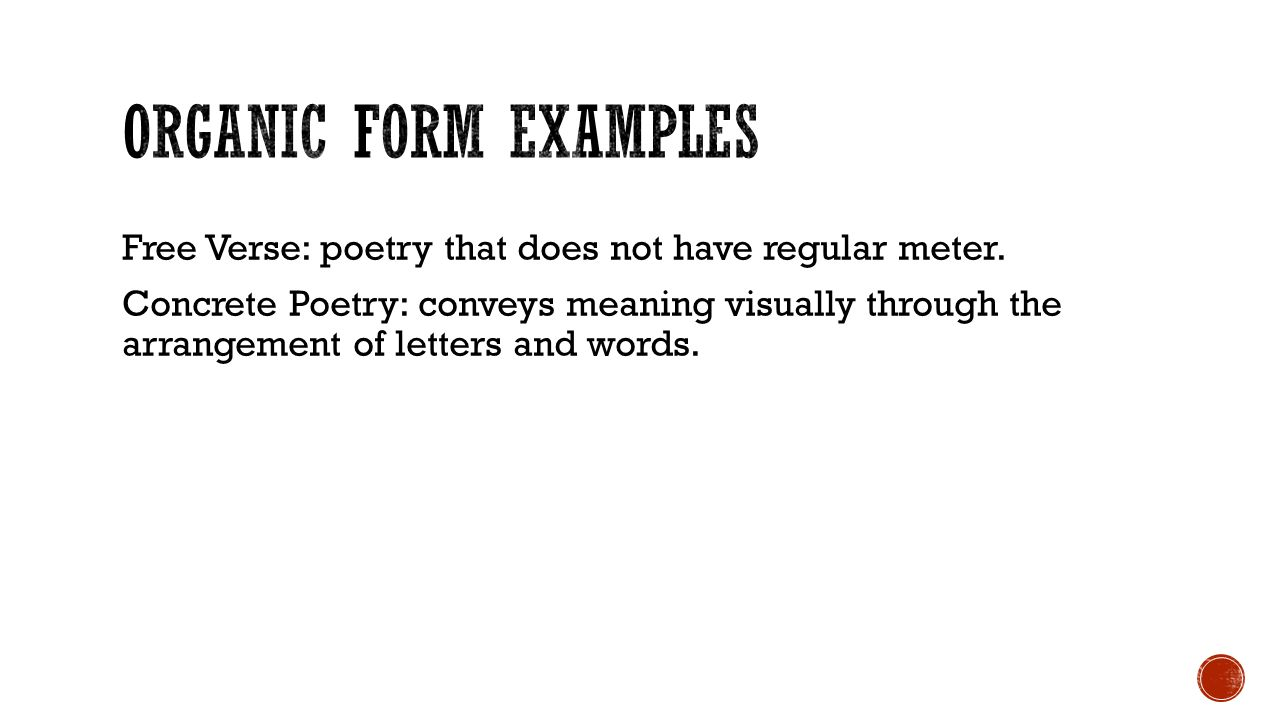 Day 67 – Poetry: Form INTRUCTOR: KYLE BRITT. - ppt video online ...