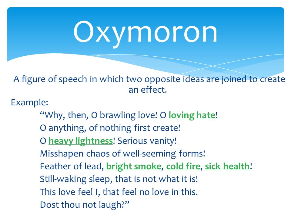 Oxymoron Examples Figures Of Speech Choice Image Example Cover