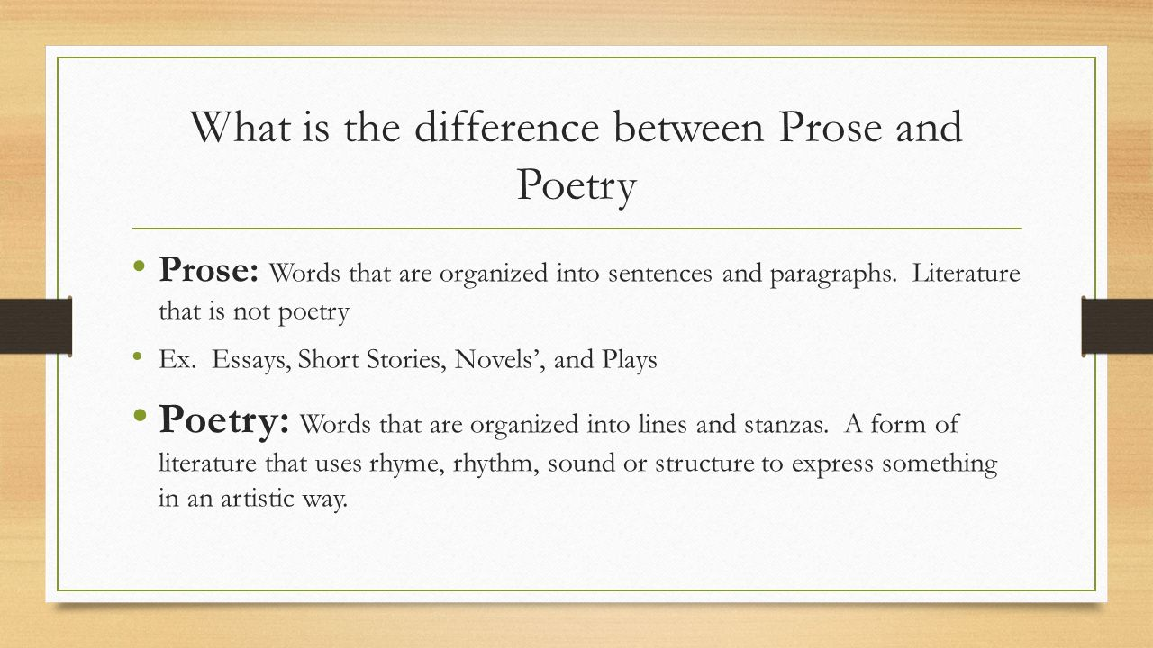 Difference between essay and short story