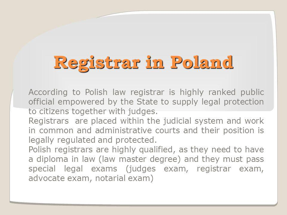 Registrar in Poland