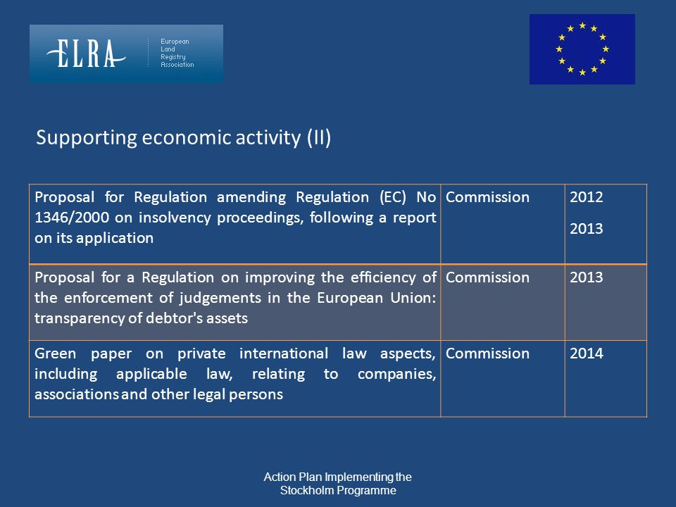 Action Plan Implementing the Stockholm Programme