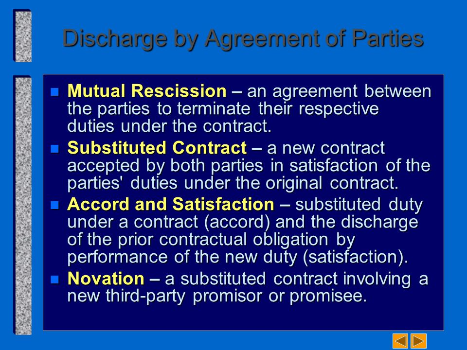 By richard a mann barry s roberts ppt video online download discharge by agreement of parties platinumwayz