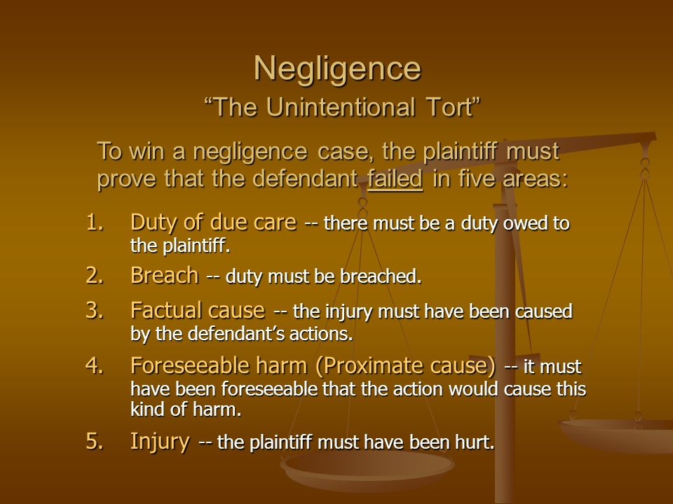 negligence act business law 2018-7-15 nevada negligence lawyer negligence is the basis for most civil cases, although an individual or company can be criminally negligent as well the civil law of negligence is based upon the concept that a reasonably prudent person should act in.