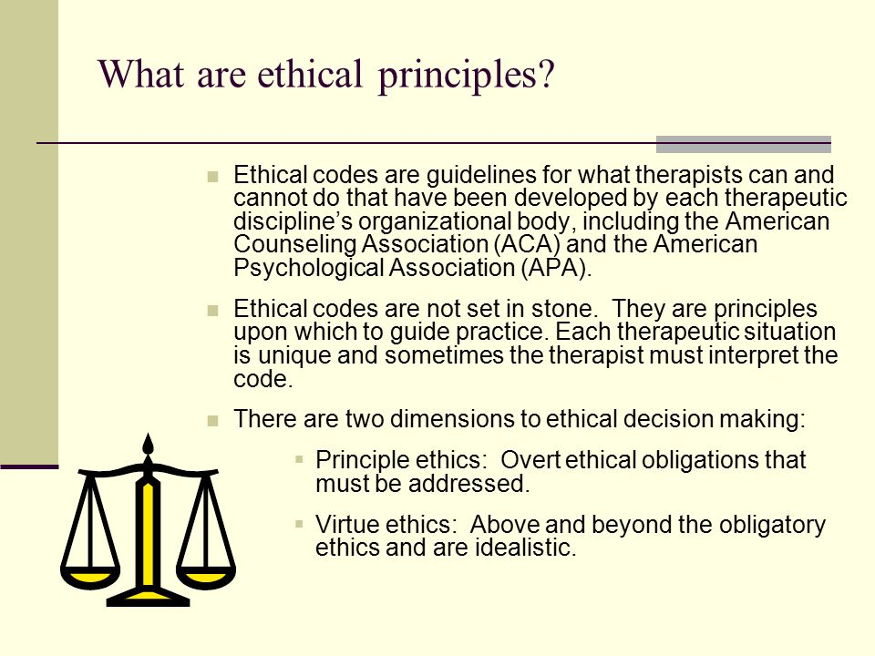 ethical principles and codes of practice Resources / standards of good practice / code of ethics  the organization meets the ethical principles articulated in the code of ethics this code is the .