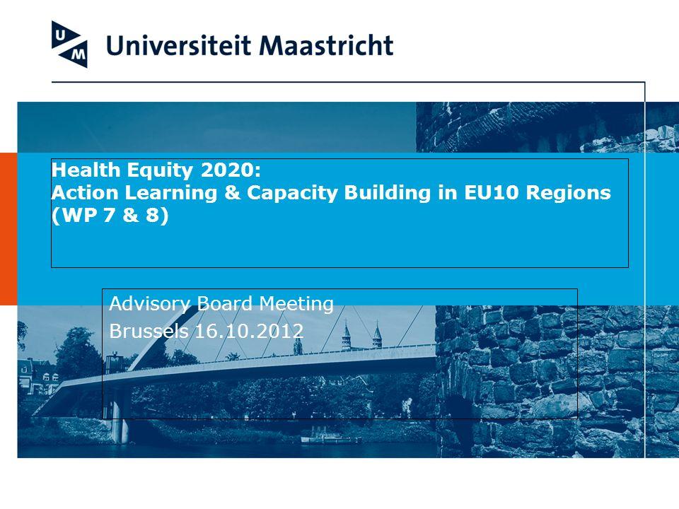 Advisory Board Meeting Brussels 16.10.2012