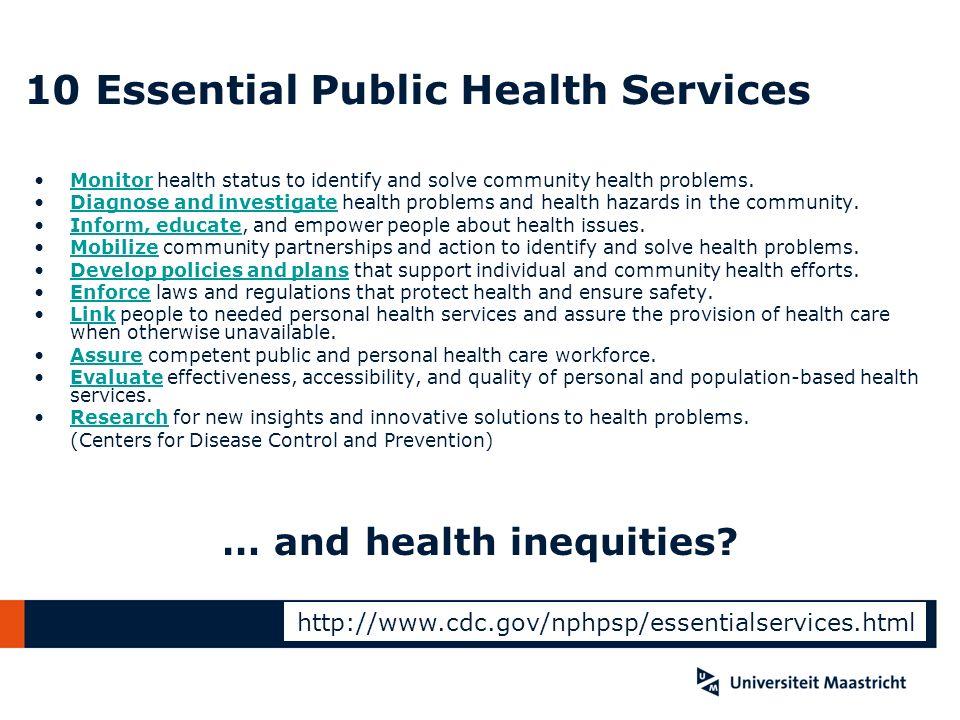 10 Essential Public Health Services