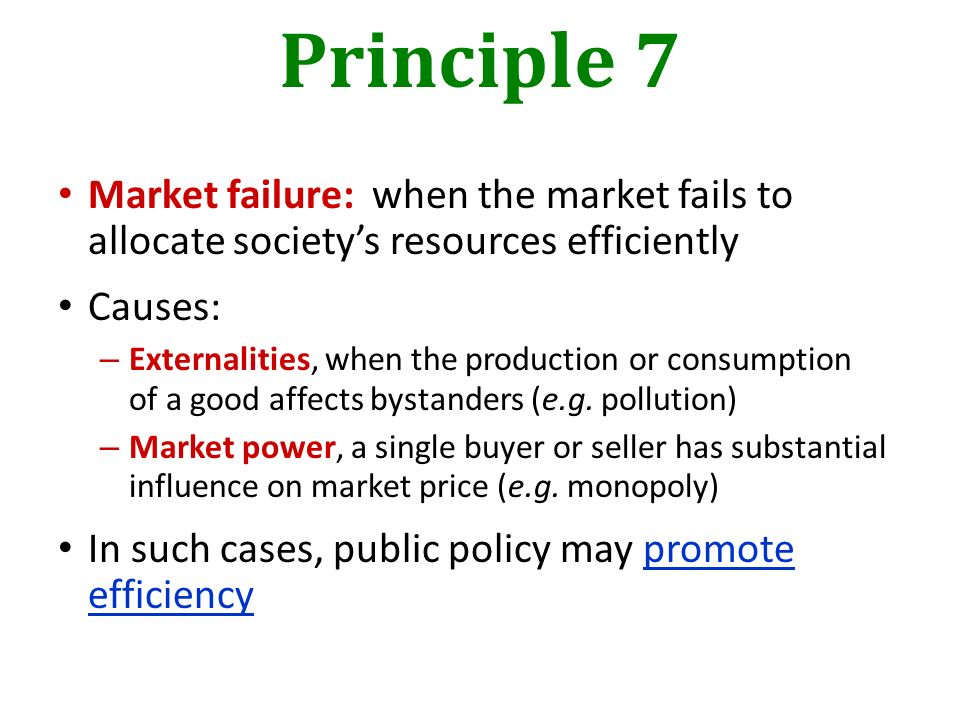 causes market failure Introducing market failure defining market failure market failure occurs when the price mechanism fails to account for all of the costs and causes of market.