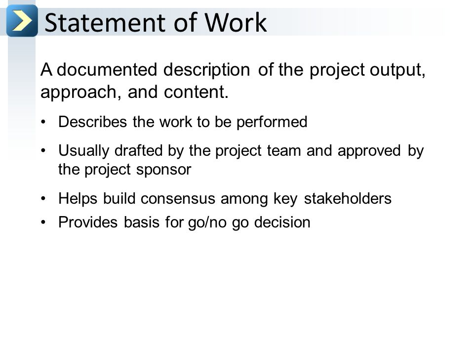 how to create a statement of work