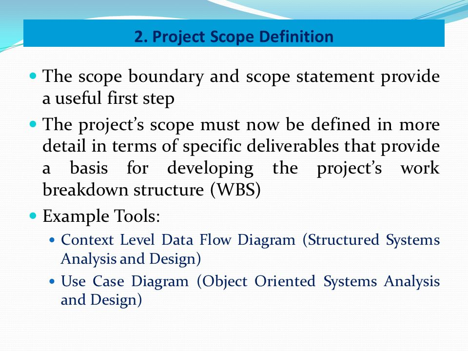 Good Project Scope Definition