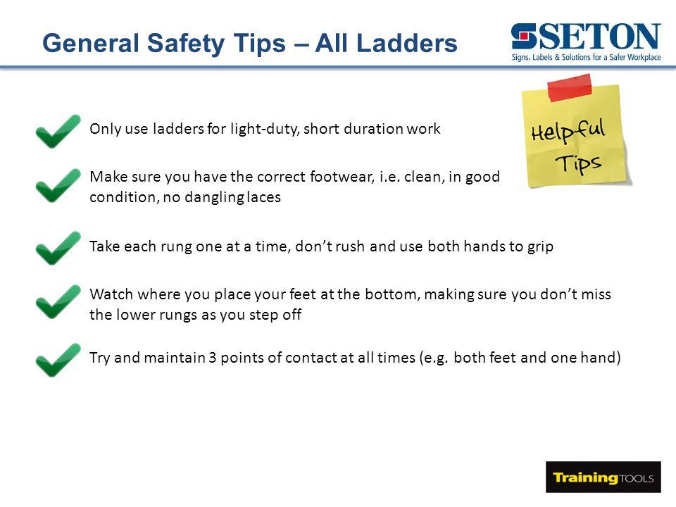 Leaning Ladder Stepladder Safety Ppt Video Online Download