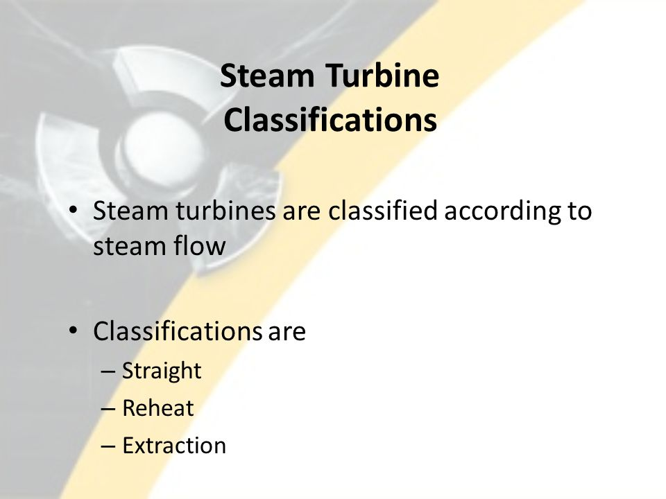 Steam Turbine Classifications