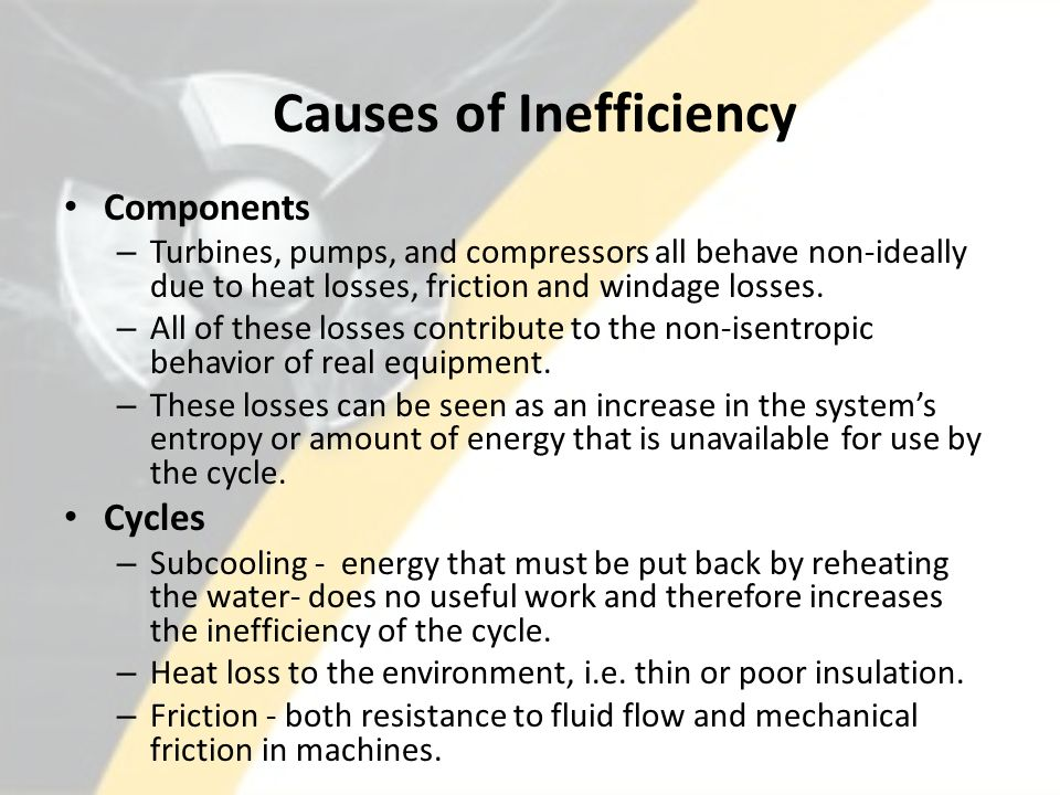 Causes of Inefficiency