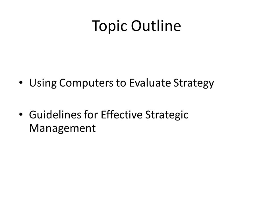 guidelines for effective strategic management 264 l chapter 10 l leadership and management chapter 10 leadership and management 101 introduction to good management th e aim of good management is to provide services to the community in an.