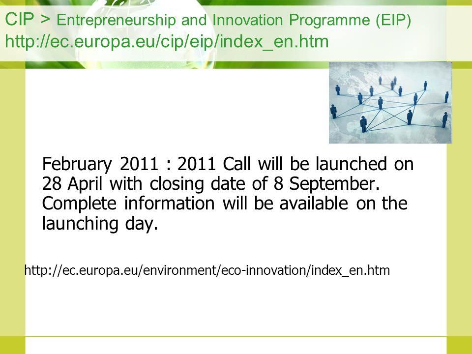 CIP > Entrepreneurship and Innovation Programme (EIP) http://ec