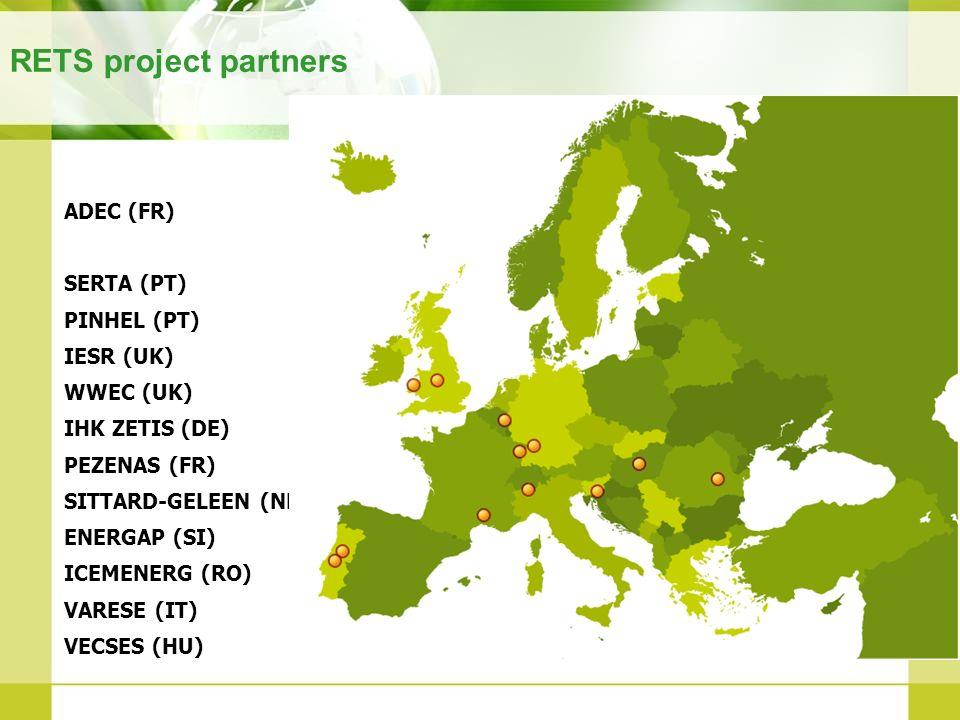 RETS project partners ADEC (FR) SERTA (PT) PINHEL (PT) IESR (UK)