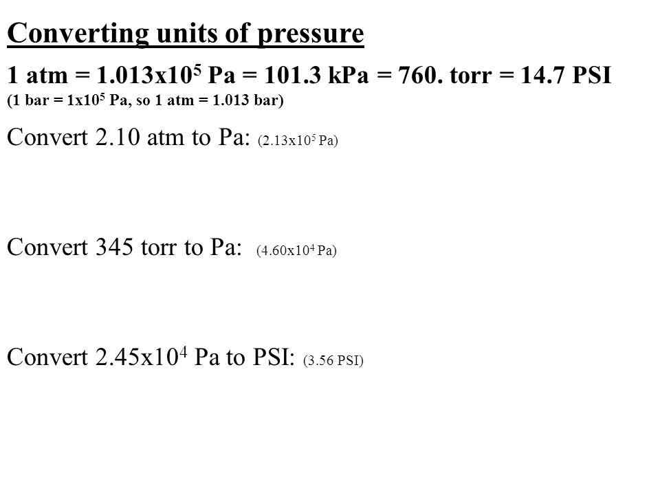 13x105 pa convert 345 torr to pa 4 60x104 pa convert 2 45x104 pa to ...