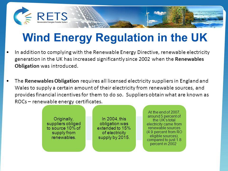 Wind Energy Regulation in the UK