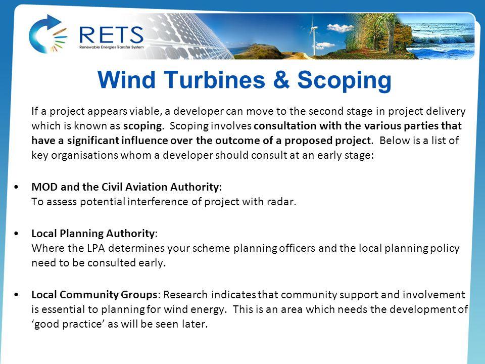 Wind Turbines & Scoping