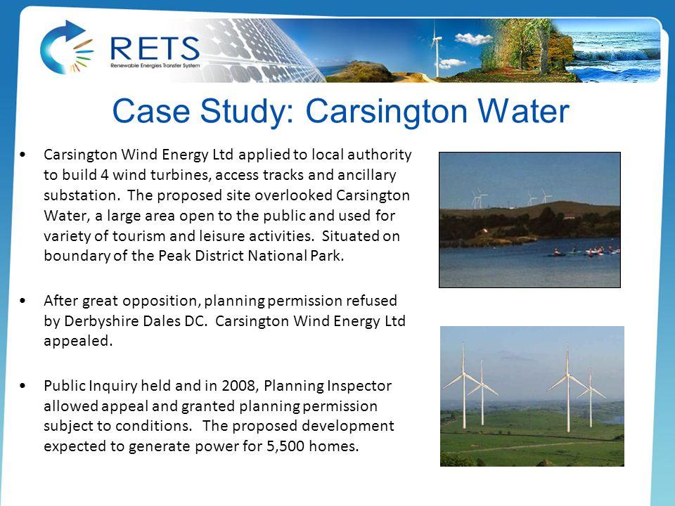 Case Study: Carsington Water