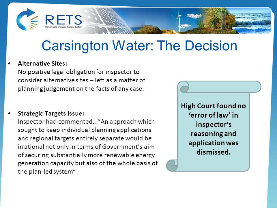 Carsington Water: The Decision