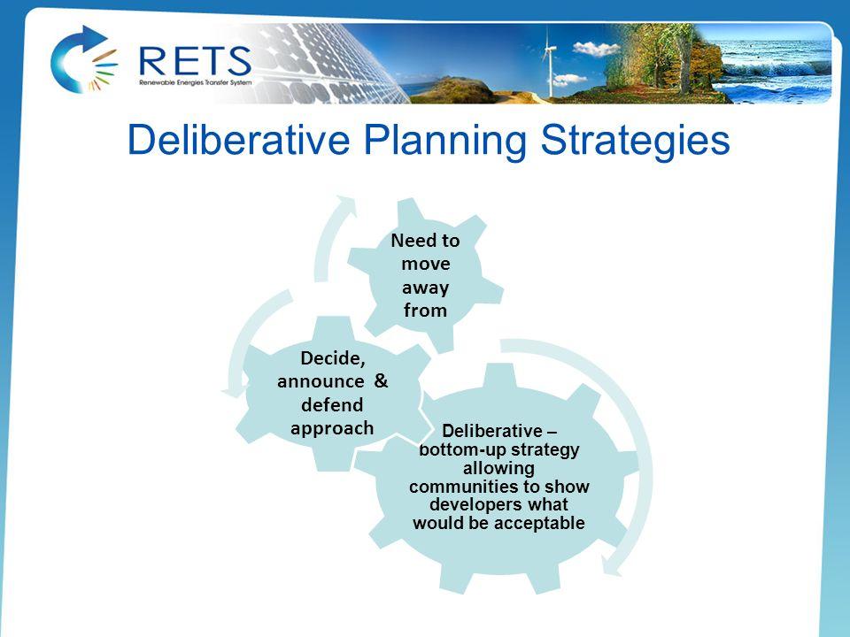 Deliberative Planning Strategies