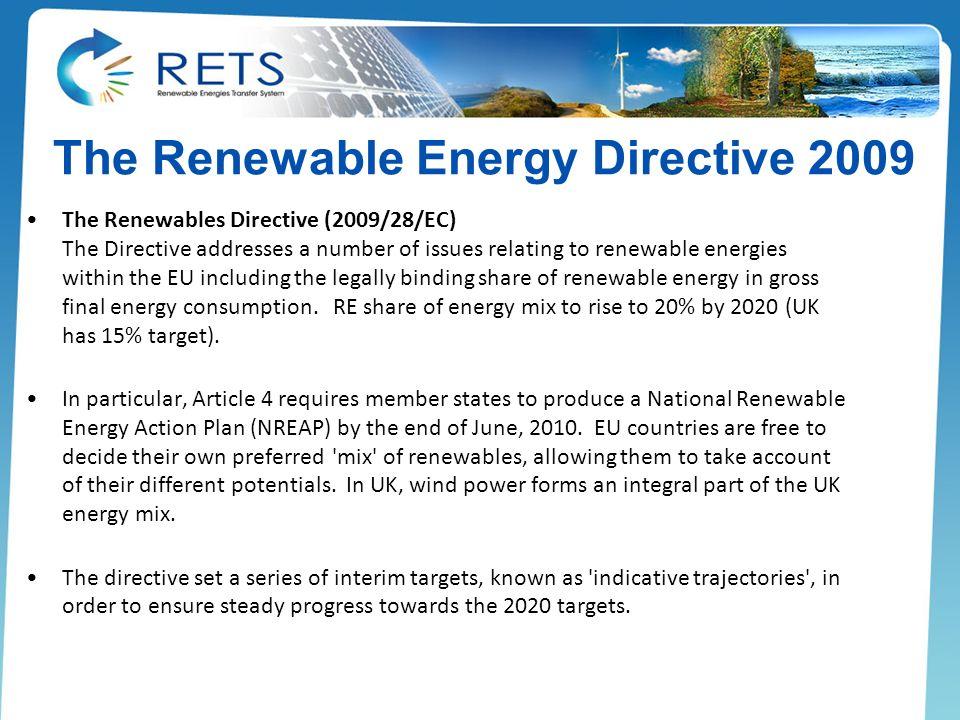 The Renewable Energy Directive 2009