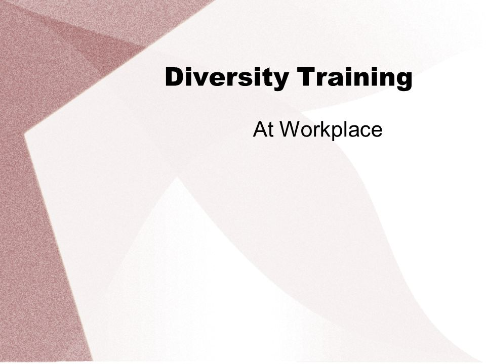 Diversity Training At Workplace