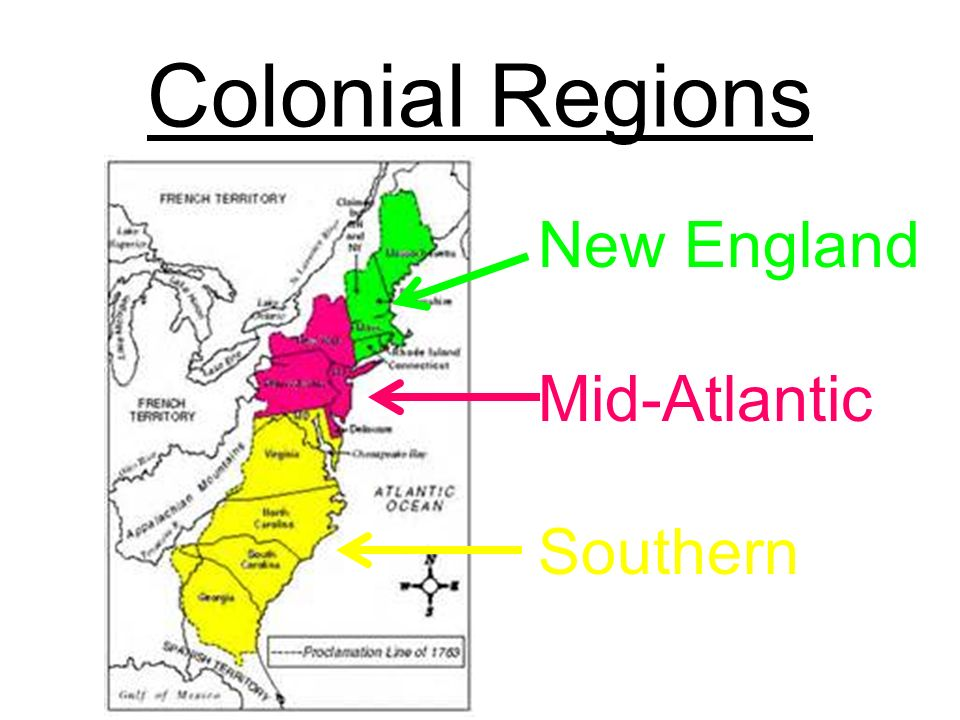 comparing social statuses of the north and south colonies