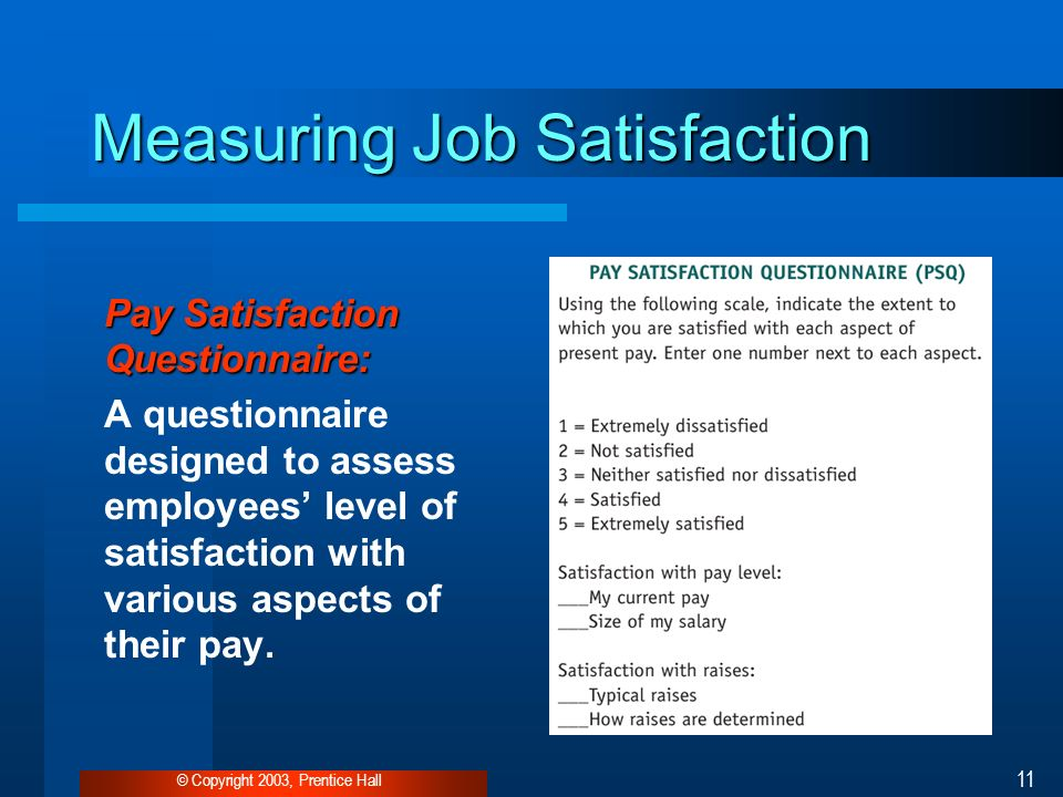 Measuring job satisfaction in surveys